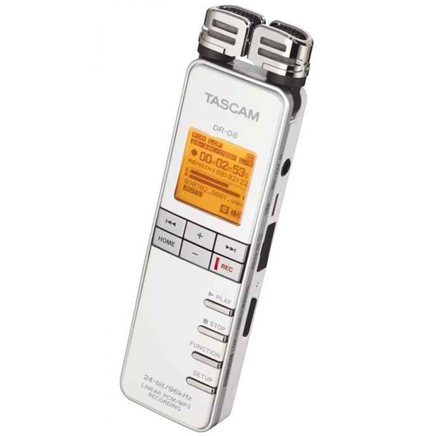 TASCAM DR08W White - REGISTRATORE PCM/MP3 + SD 2GB Omaggio!