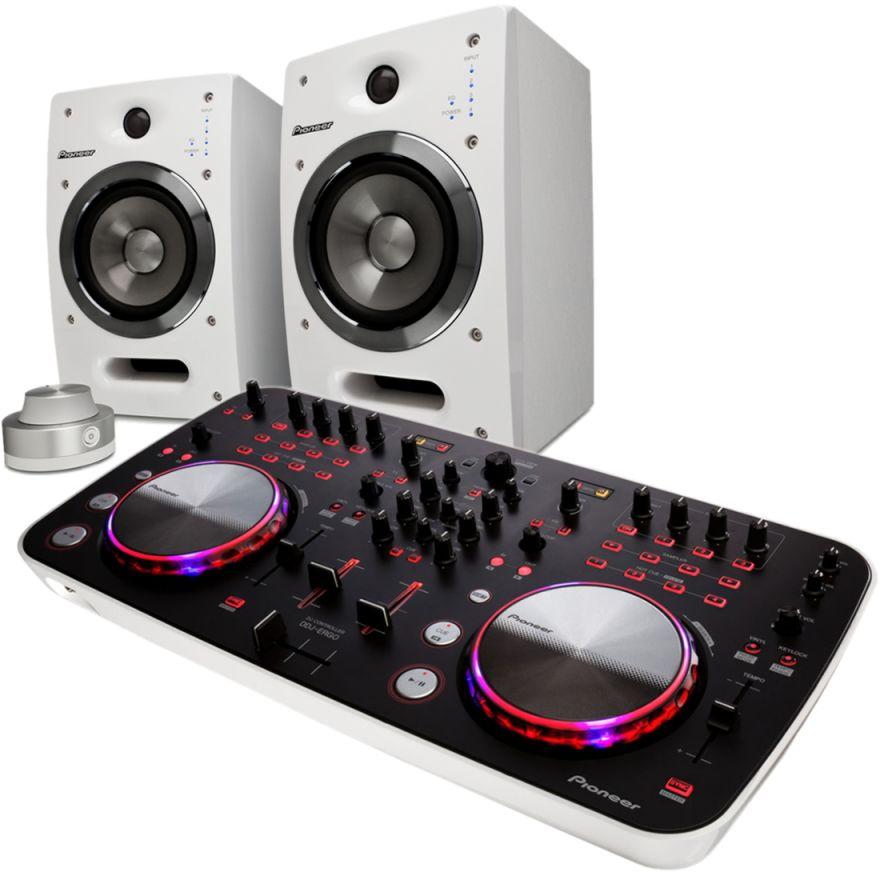 PIONEER DDJ-ERGO + S-DJ05-W White(COPPIA) Bundle -PROMO LIMITATA