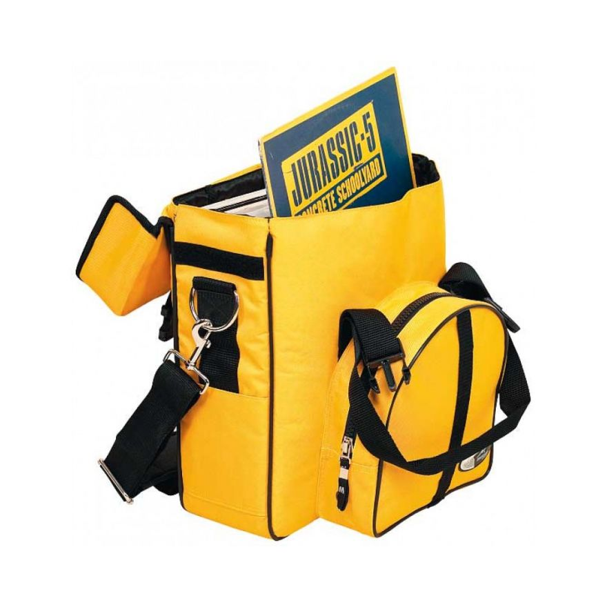 ROCKBAG RB27100YE DJ backpack bag per 10 vinili yellow