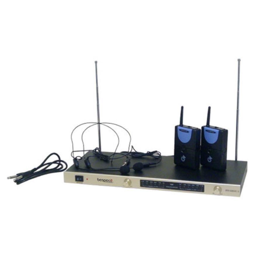 BESPECO SW3500H - RADIOMICROFONO CON 2 MICROFONI Archetto