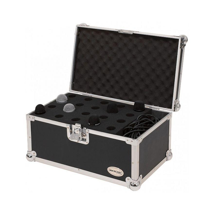 ROCKCASE RC23221B Microphone hole Case per 20 microfoni