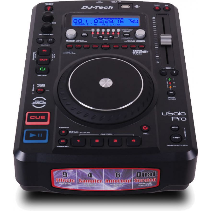 DJ TECH USOLO PRO  - MEDIA PLAYER USB/MP3