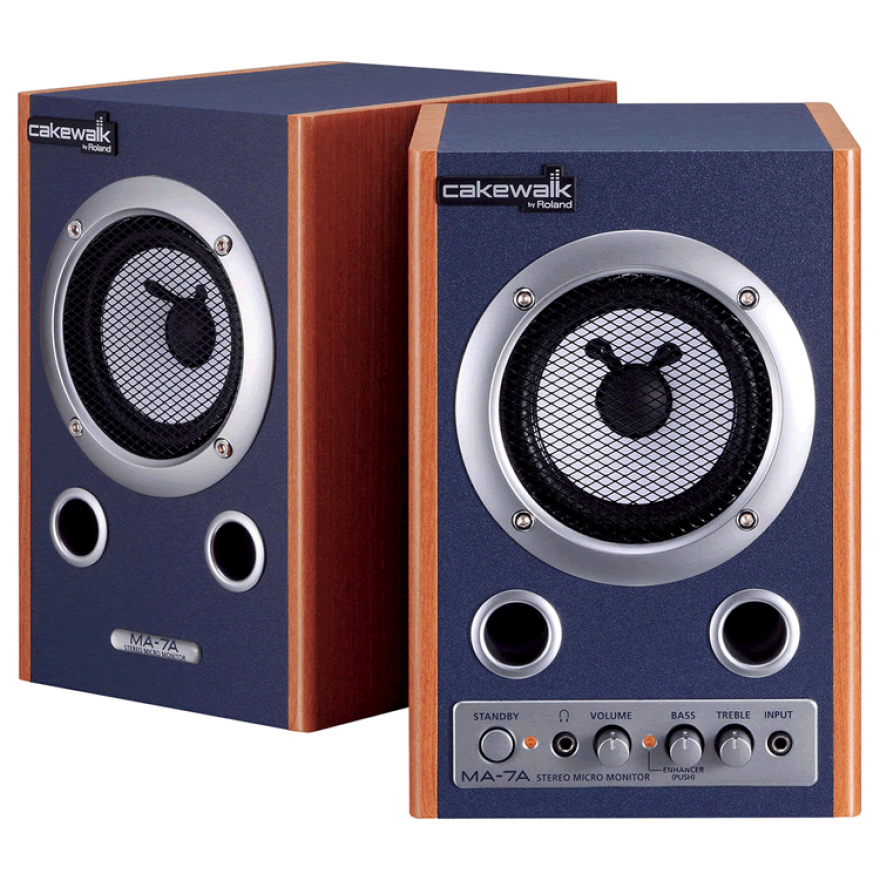 CAKEWALK MA7ACW (COPPIA) - MONITOR SPEAKER AMPLIFICATI 7W + 7W