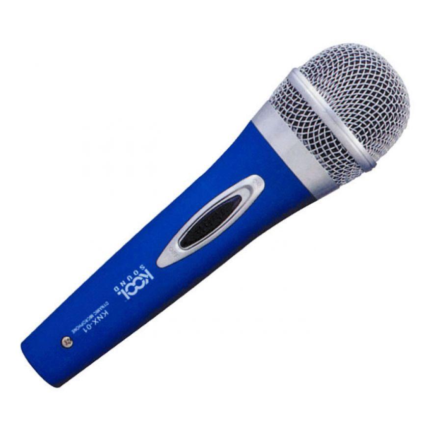 KOOL SOUND KNX 01 - MICROFONO DINAMICO BLU
