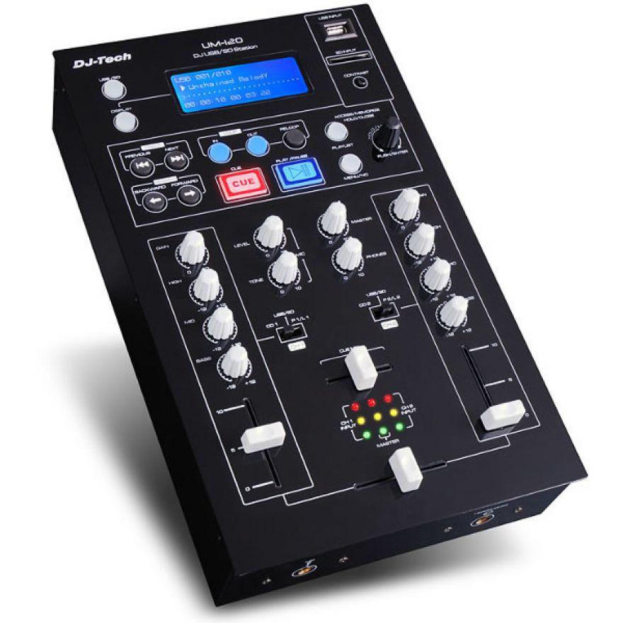 DJ TECH UM120 - MIXER PER DJ USB/SD MP3