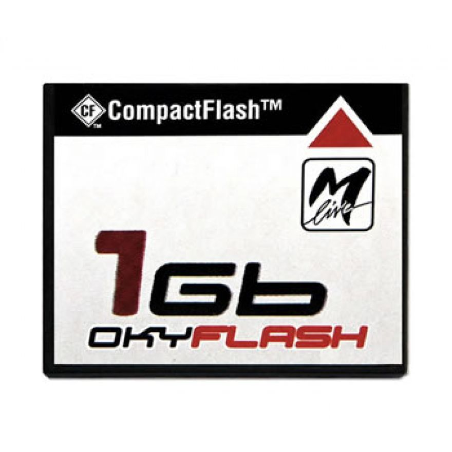 M-LIVE OKYFLASH - CF.1GB CON 500 BASI Mf3/Mf5/mp3 PER OKYWEB