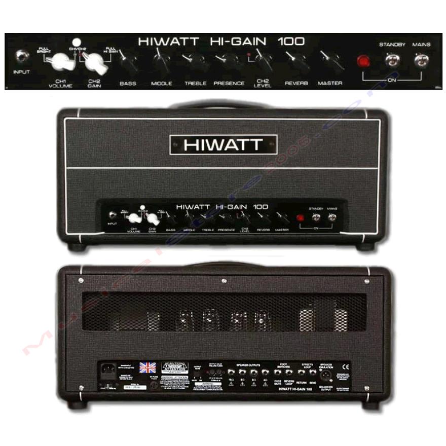 0-HIWATT HG-100HD - TESTATA