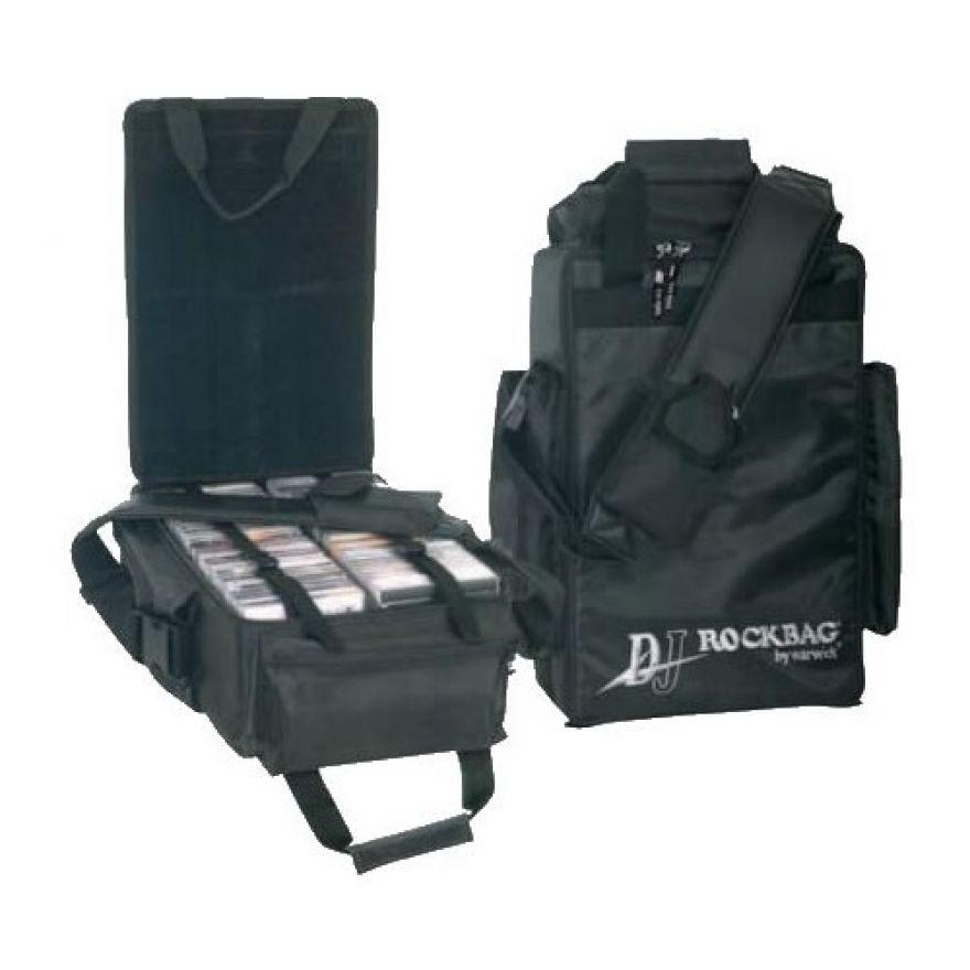 ROCKBAG RB27332B DJ bag con 2 inserti per 60 CDs + tasca esterna