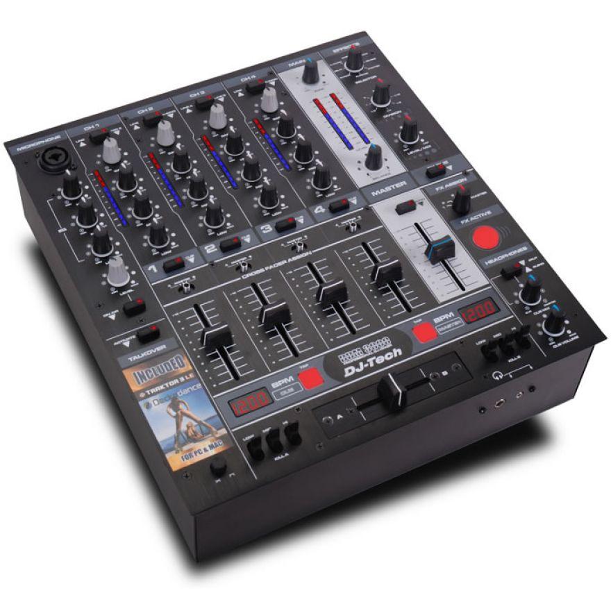 DJ TECH DDM3000 BLK - MIXER DJ 4 CANALI