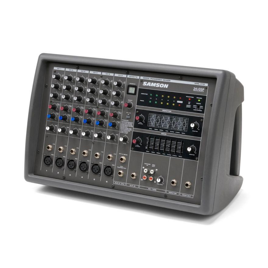 Samson XML410 - Mixer amplificato 6 canali con effetti