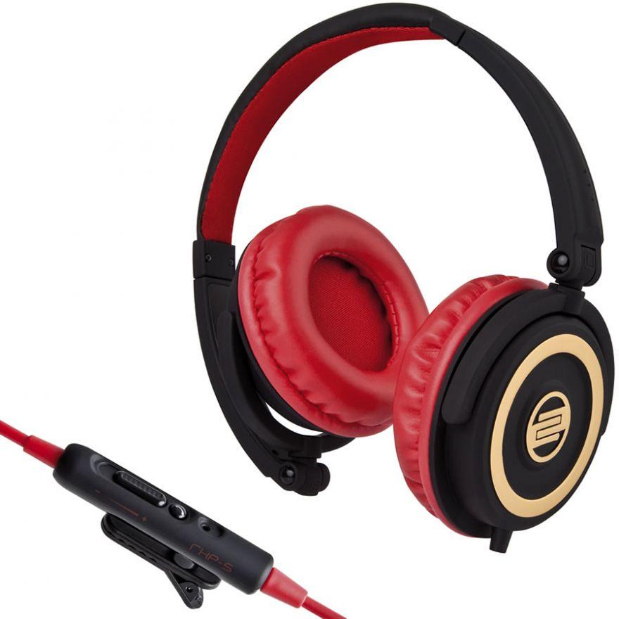 RELOOP RHP5 CHERRY BLACK - CUFFIE PER DJ CON MICROFONO INTEGRATO