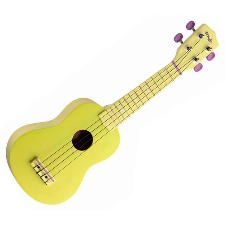 STAGG US-LEMON - UKULELE SOPRANO GIALLO + BORSA