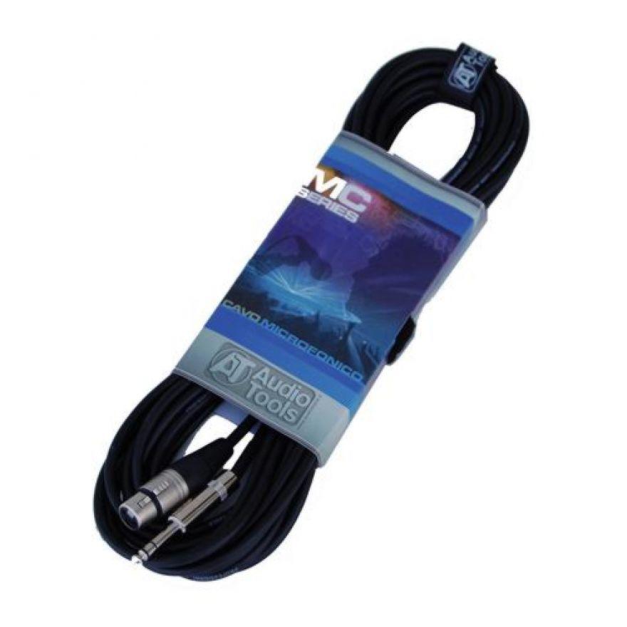 AUDIO TOOLS MC203-10 - CAVO MICROFONICO XLR F - Jack TRS 10M