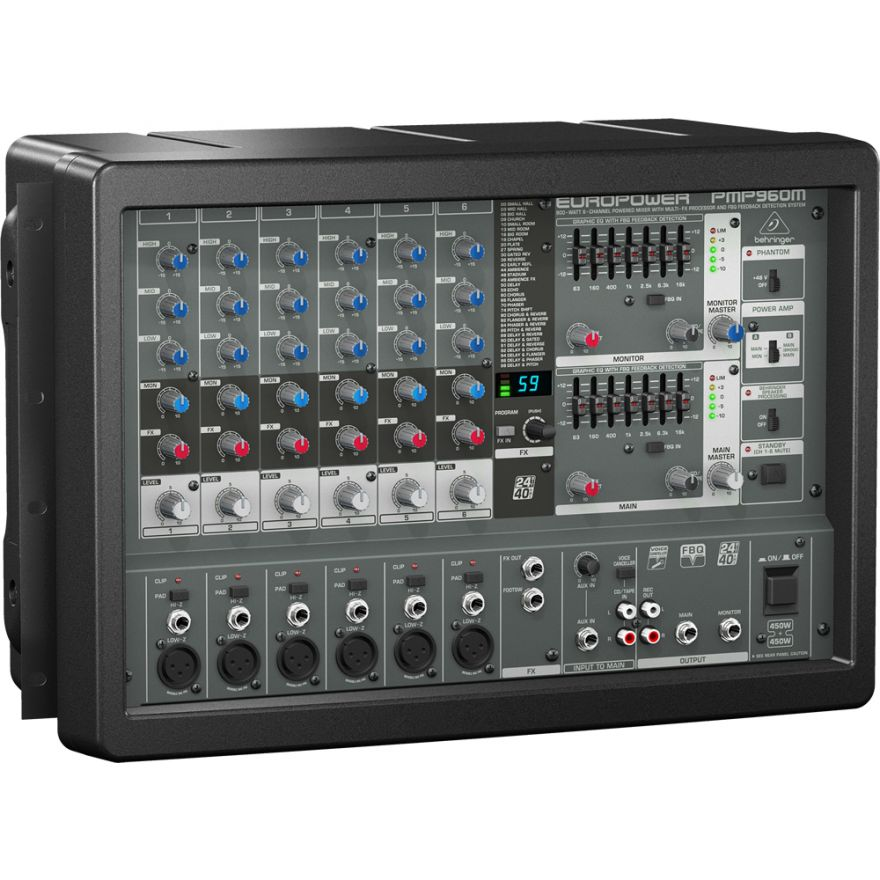 BEHRINGER EUROPOWER PMP960M - MIXER AMPLIFICATO 6 CANALI ...