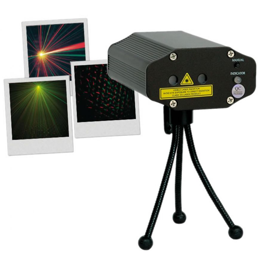 MINI LASER LIGHT 130 mW a 2 COLORI - FIREFLY 130RG