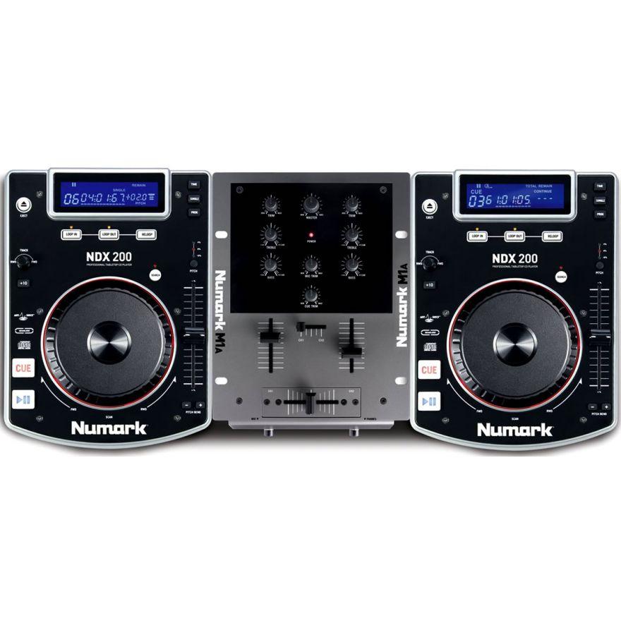 NUMARK CD DJ IN A BOX  - CONSOLE DJ LETTORI CD/MIXER/CUFFIE