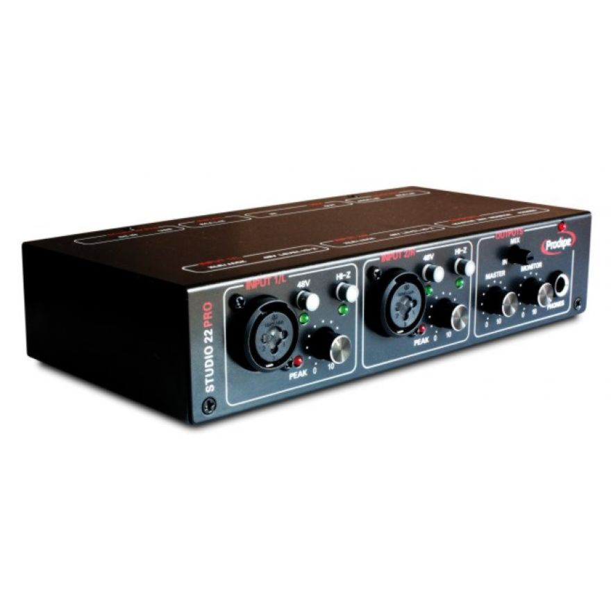 PRODIPE STUDIO 22 PRO - INTERFACCIA AUDIO USB 2X2