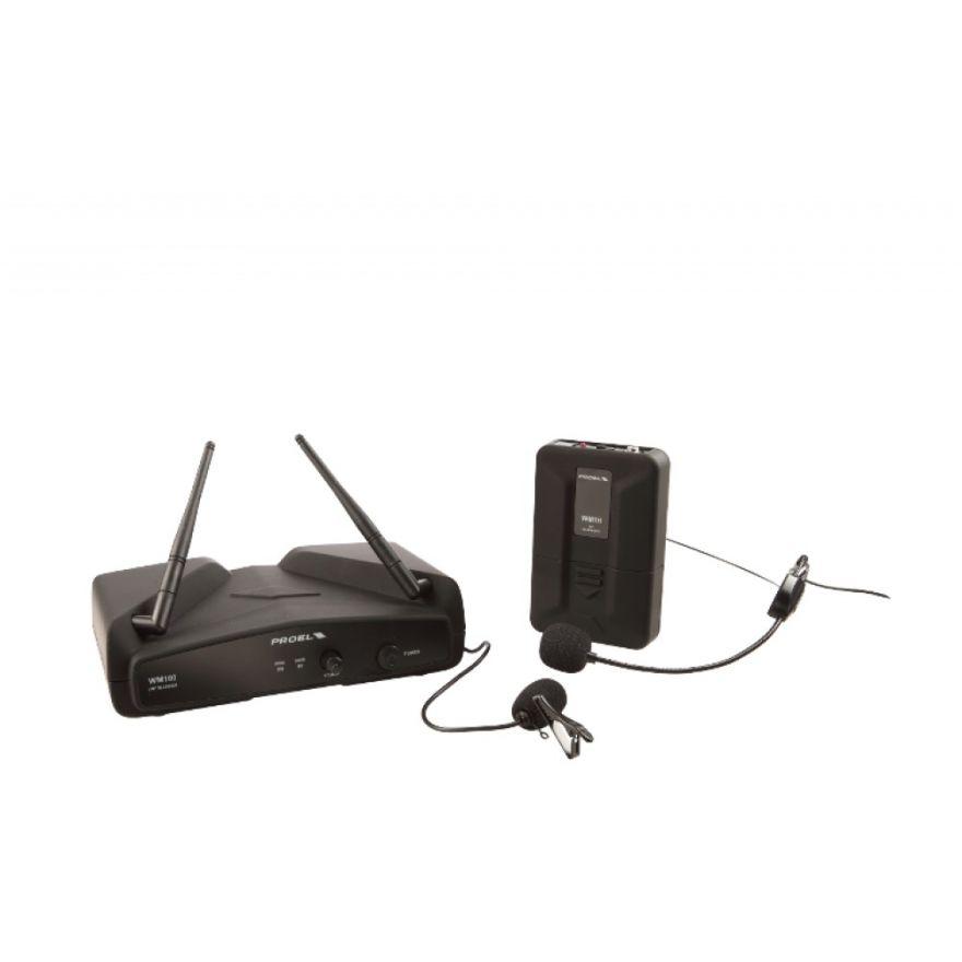 PROEL WM100H - Radiomicrofono VHF Headset + Lavalier