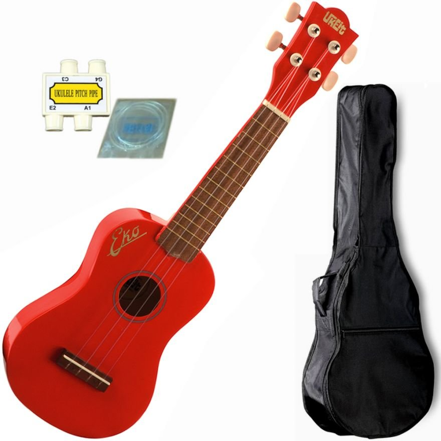 EKO UKEIT Red - UKULELE SOPRANO IN LAMINATO KIT COMPLETO