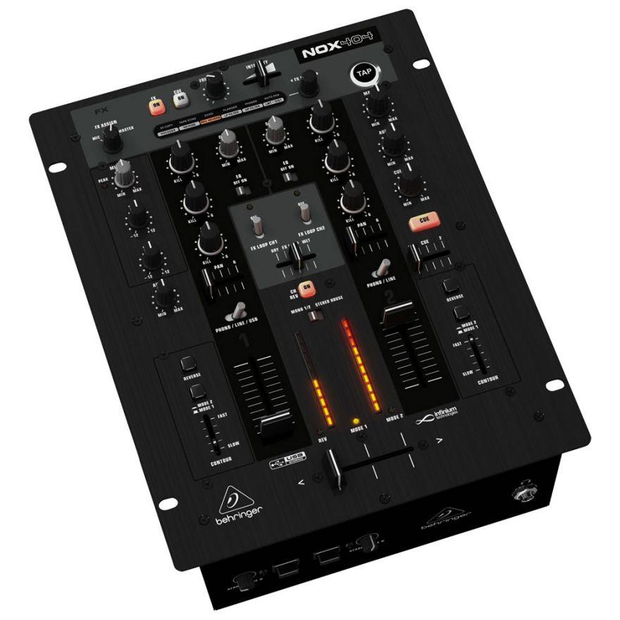 BEHRINGER NOX404 PRO - MIXER PER DJ USB CON CROSSFADER OTTICI