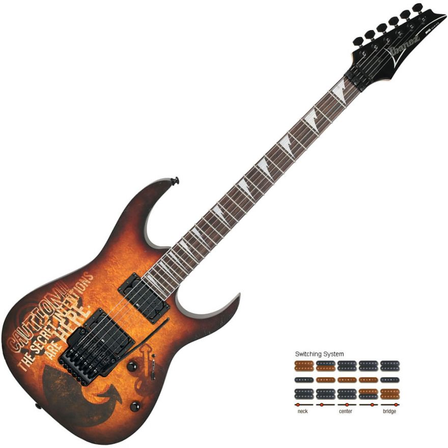 IBANEZ RG320PG P2 - Grafica graffiti 'The secret intention'