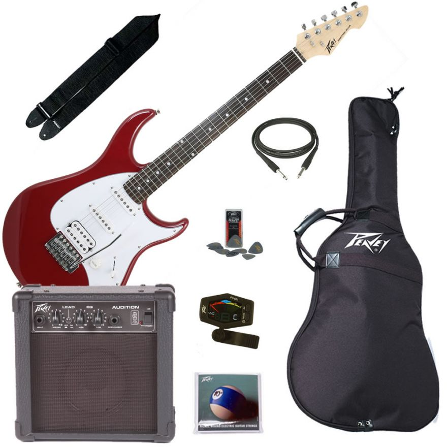 PEAVEY ELECTRIC GUITAR PACK PLUS RED - KIT CHITARRA ELETTRICA COMPLETO