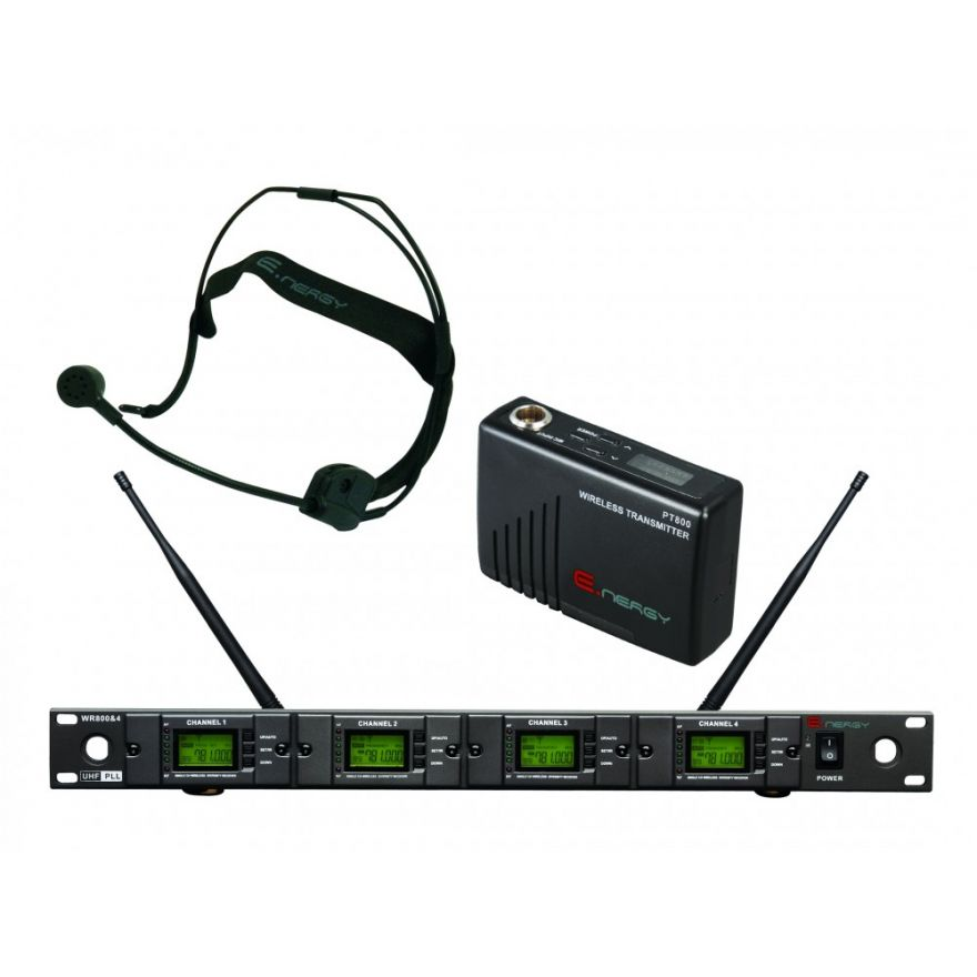 ENERGY WR-800 & 4 HD - SISTEMA WIRELESS UHF 4 MICROFONI ARCHETTO