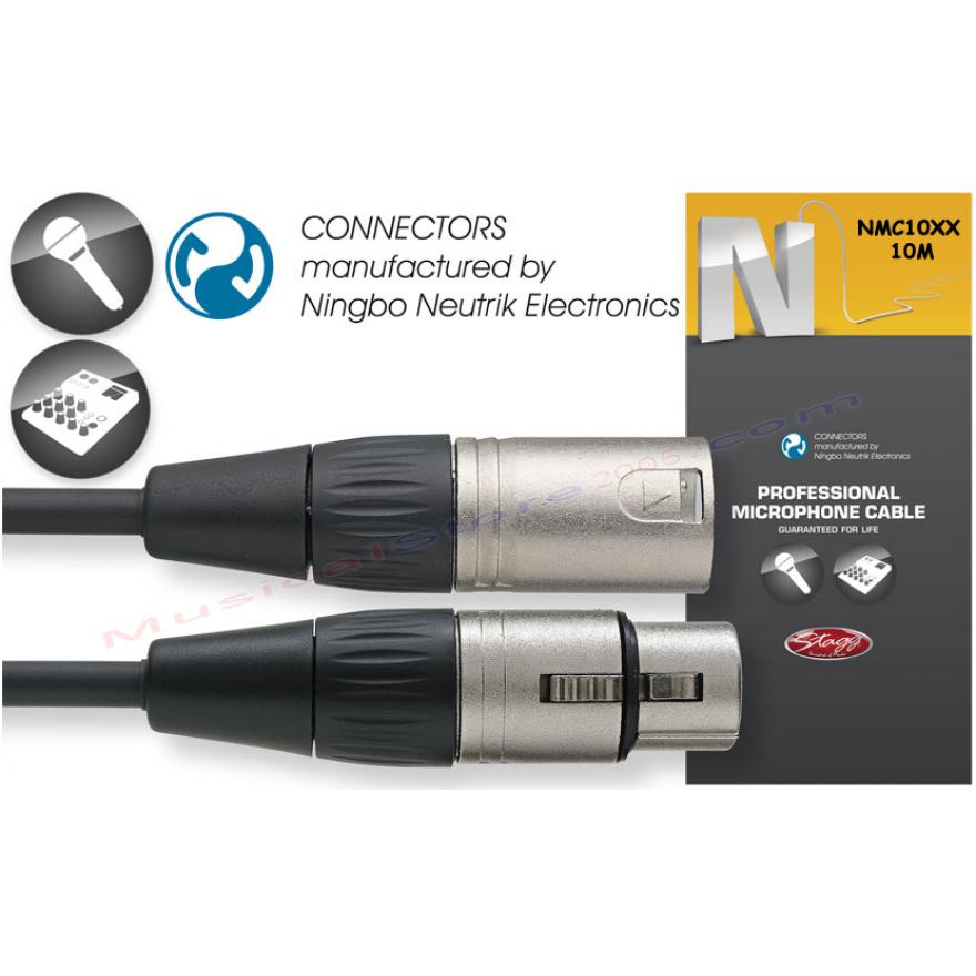 STAGG NMC10XX - CAVO MICROFONO PROFESSIONALE XLR M/F 10M