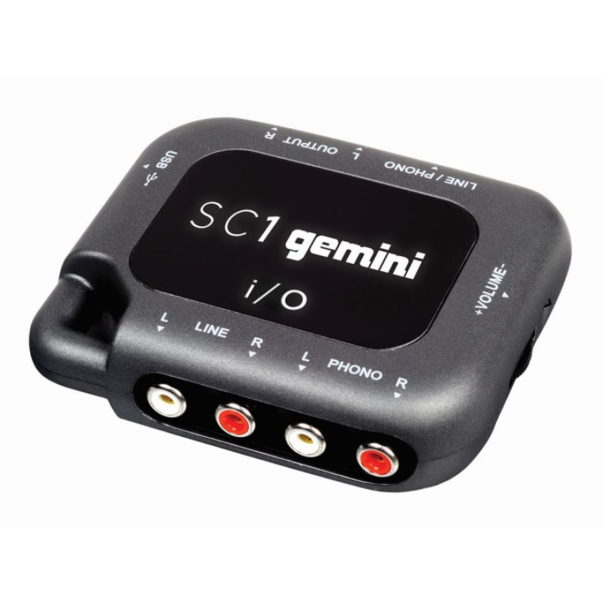 GEMINI SC1 - SCHEDA AUDIO USB  2 IN 1 OUT
