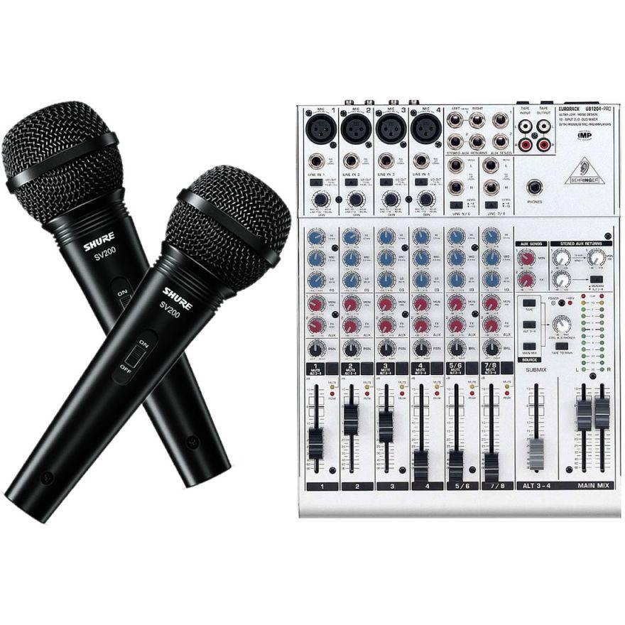 PROMO: 1 Mixer 12 Ch + 2 Microfoni Shure + 2 Cavi