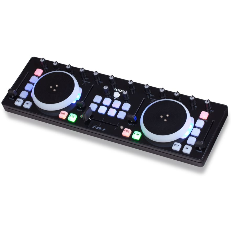 ICON iDJ Black - CONTROLLER MIDI USB PER DJ