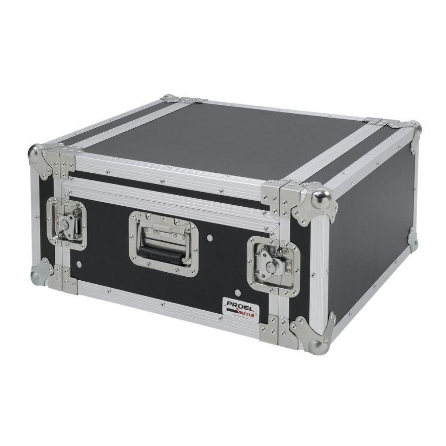 PROEL SA04BLKM - Flight case 4U a rack 19  con portamixer