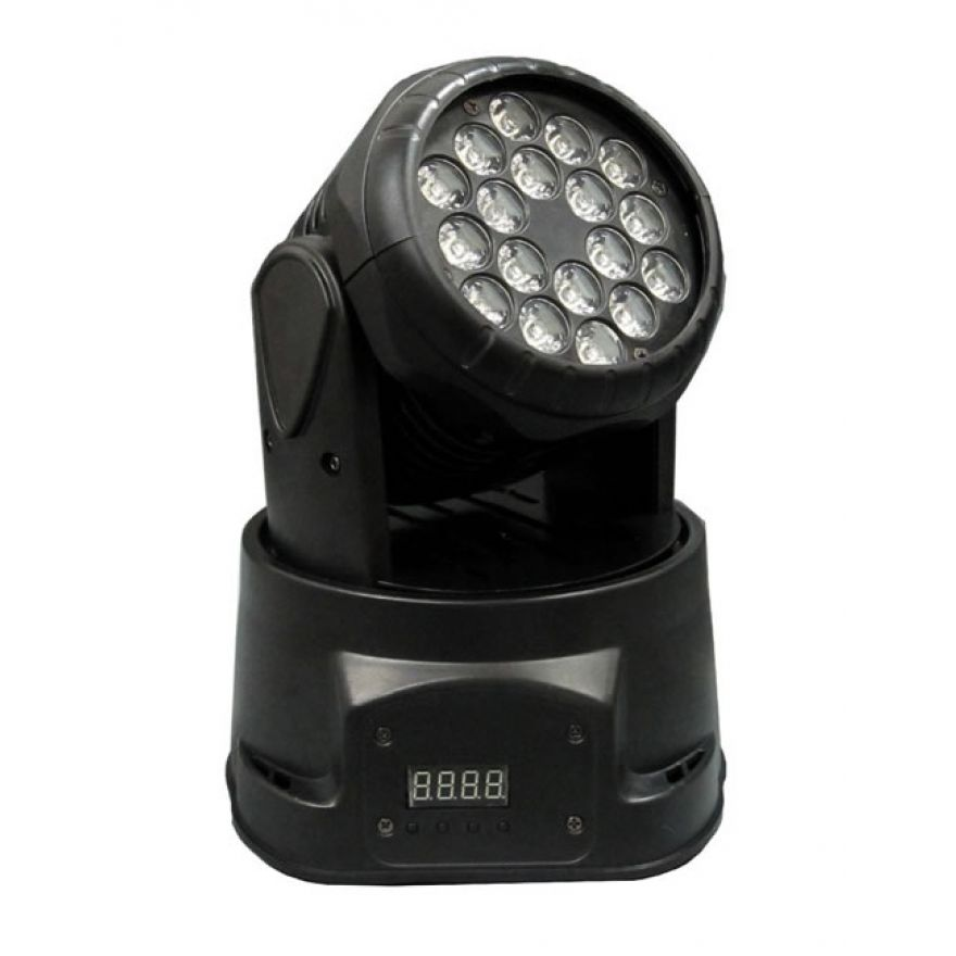 FLASH LED MINI WASH 18X3W 3IN1 - TESTA MOBILE Mini WASH