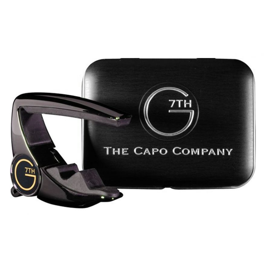 G7TH Capo Chrome Black + TIN - Capotasto per Chitarra Acustica