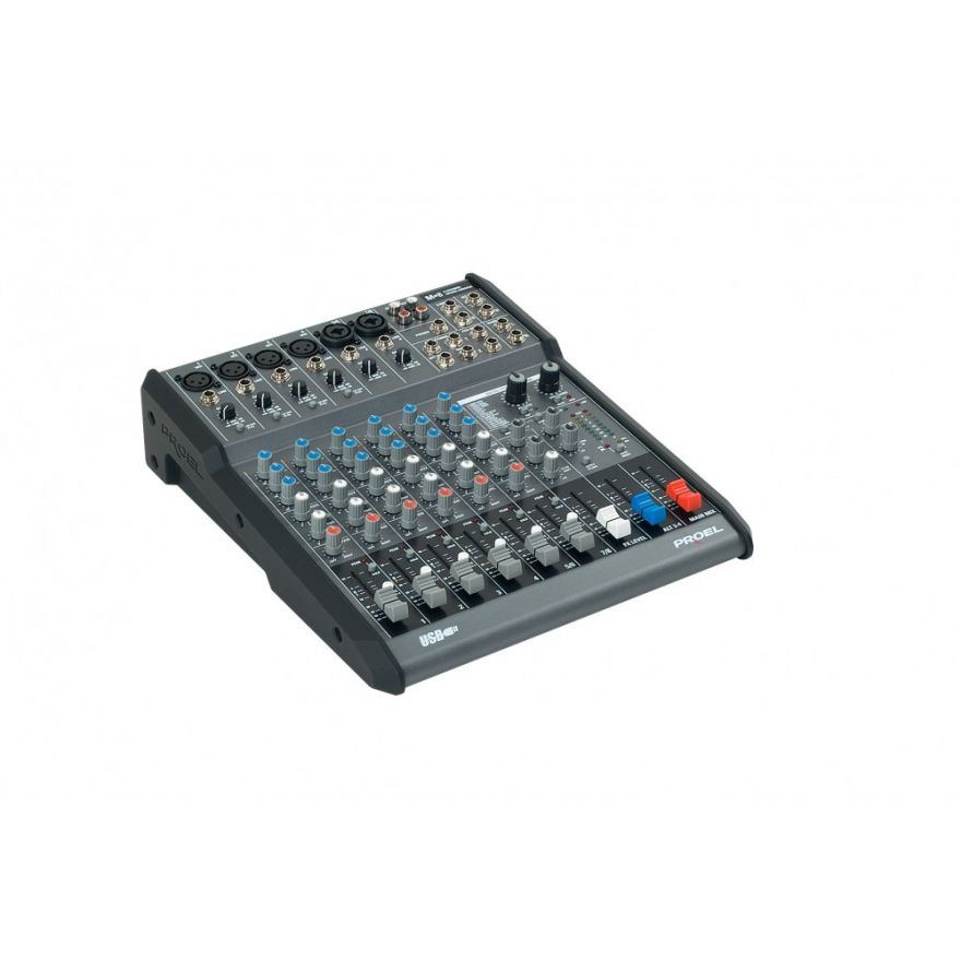 PROEL M8USB - Mixer usb 8 in 2 out con effetti