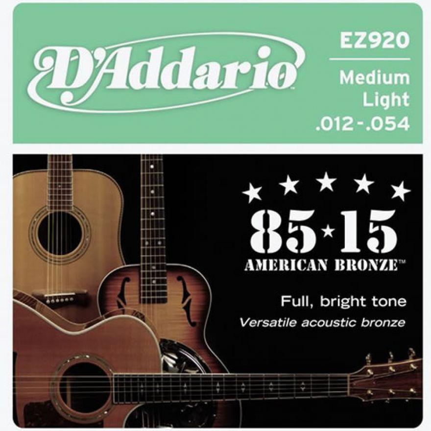 D'ADDARIO EZ920 85/15 - MUTA PER CHITARRA ACUSTICA (012-054)