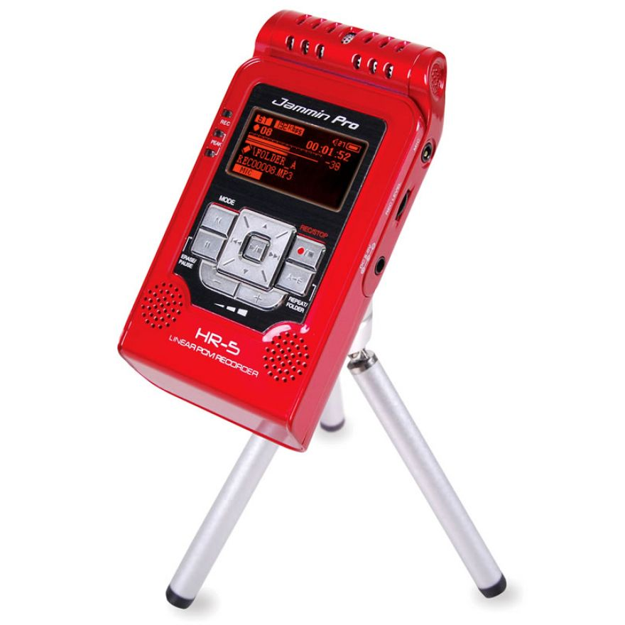JAMMIN PRO HR5 Red - REGISTRATORE DIGITALE + Stand