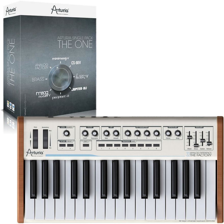 ARTURIA ANALOG EXPERIENCE 32 THE FACTORY + THE ONE Bundle