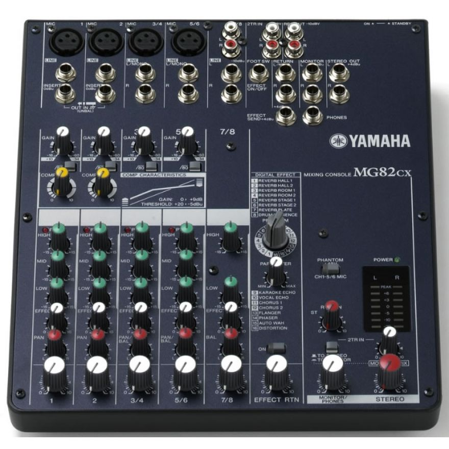 YAMAHA MG82CX [Ex Demo] - MIXER ANALOGICO CON COMPRESSORE