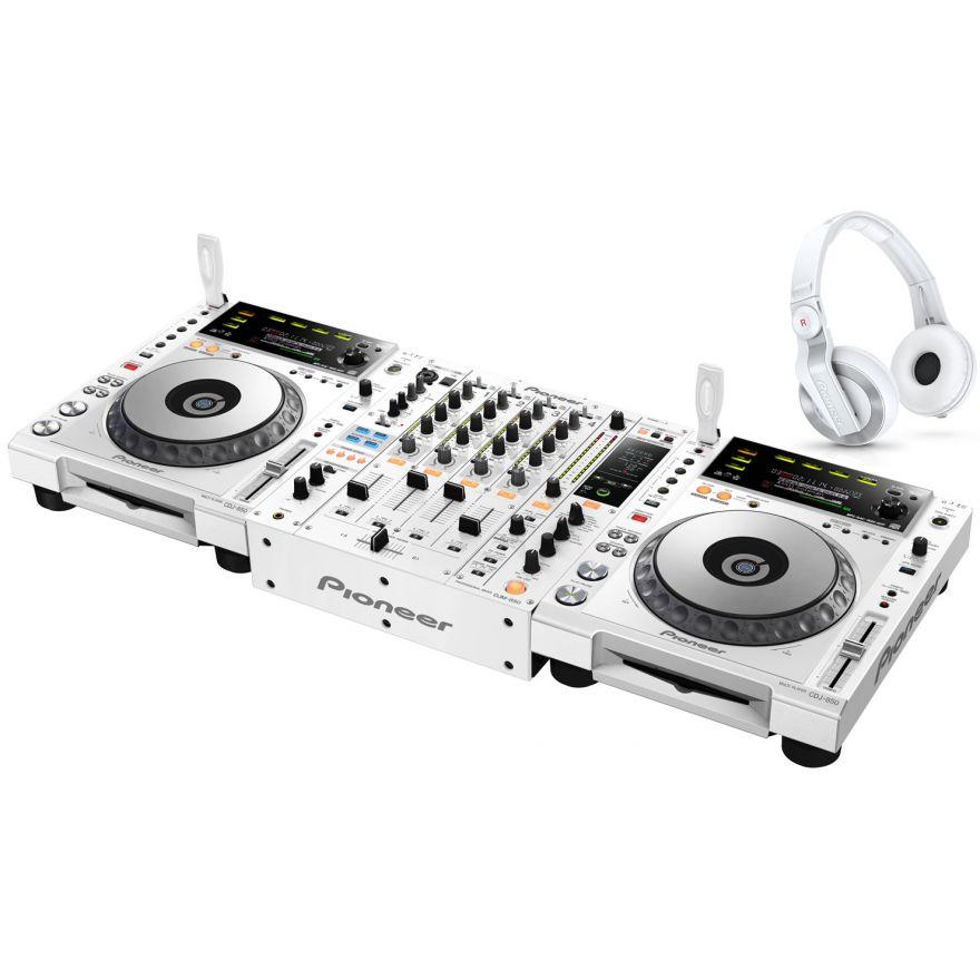PIONEER 850PACK-W-2 White - 2 CDJ850W + DJM850W + HDJ500W