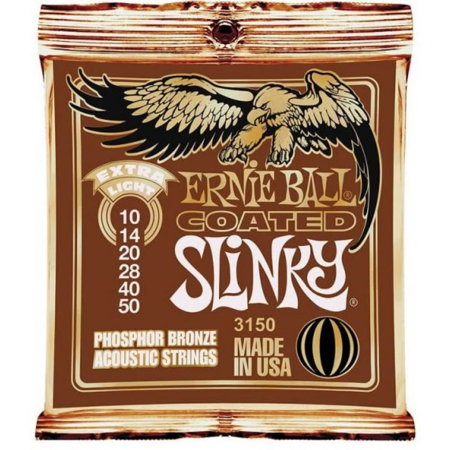Ernie Ball 3150 Extra Light Coated Slinky - MUTA PER ACUSTICA 10/50