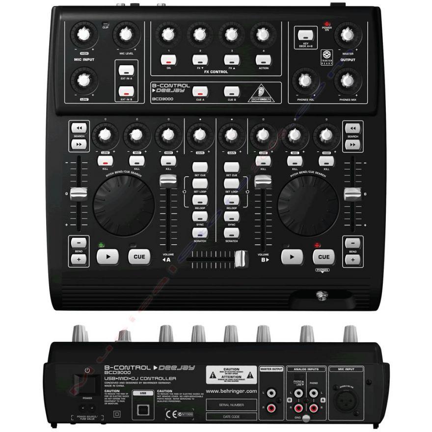 BEHRINGER BCD3000 B-CONTROL DEEJAY [EX DEMO] - CONSOLLE PER DJ