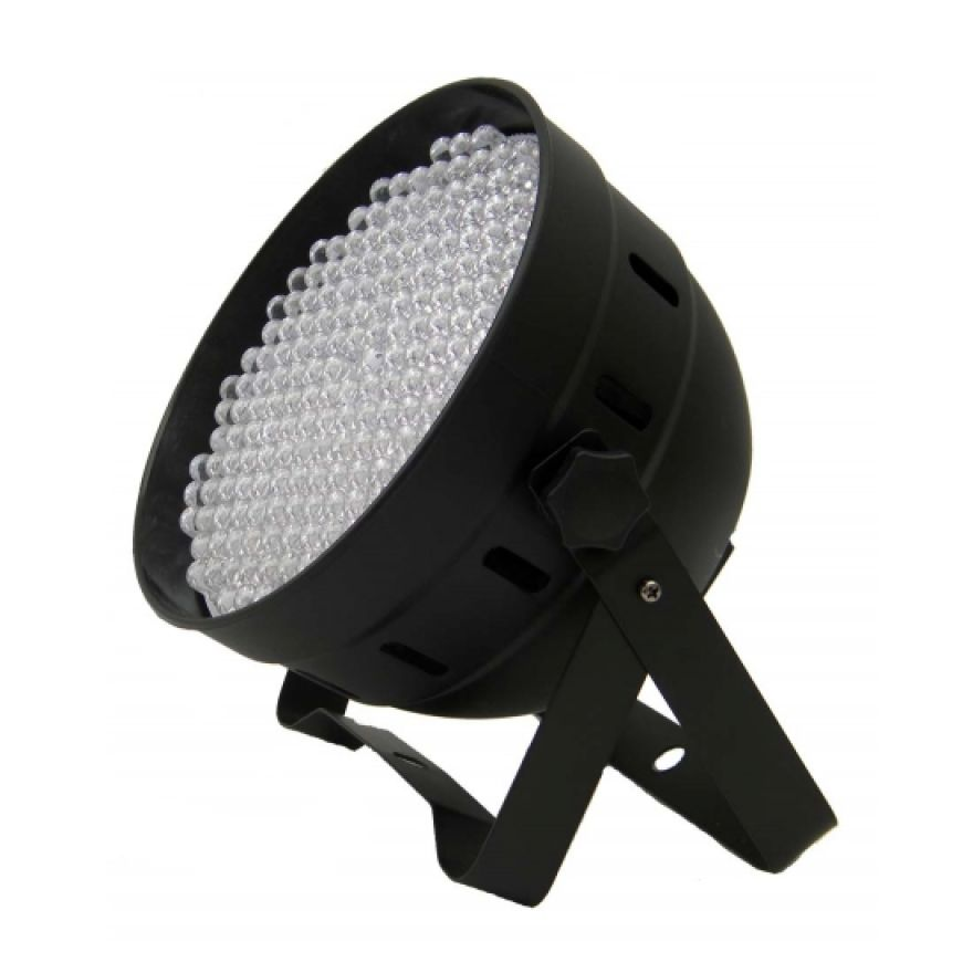 FLASH LED PAR 64 186x 10mm RGBW DMX ABS Black
