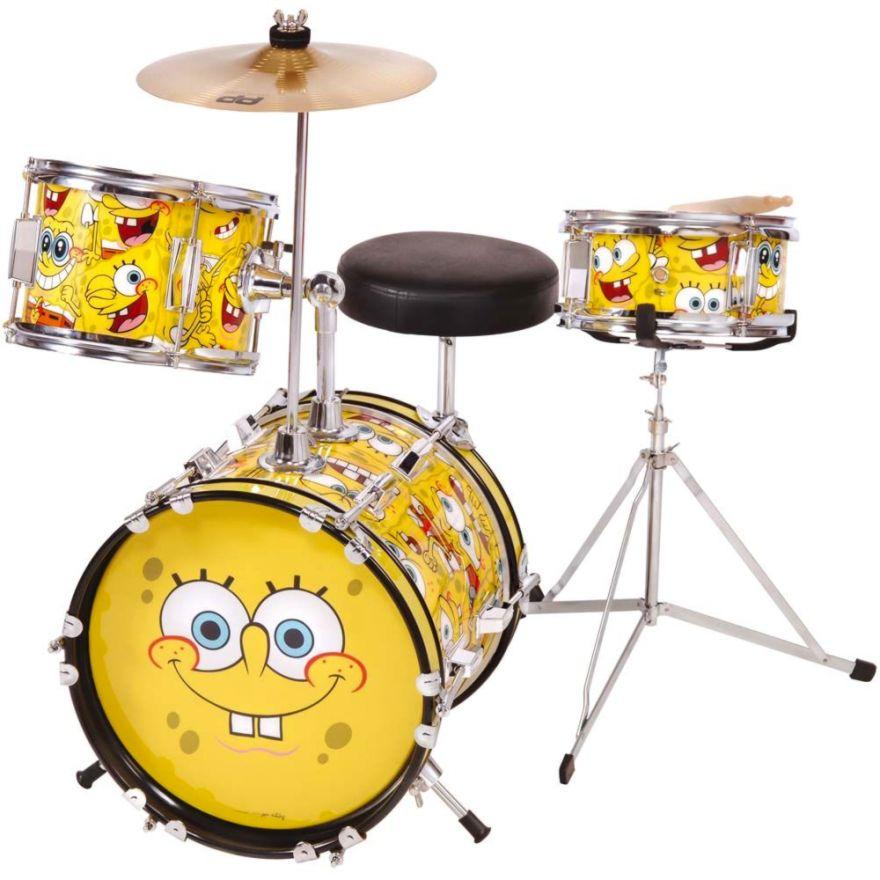 SpongeBob Batteria Acustica Junior 3 pezzi