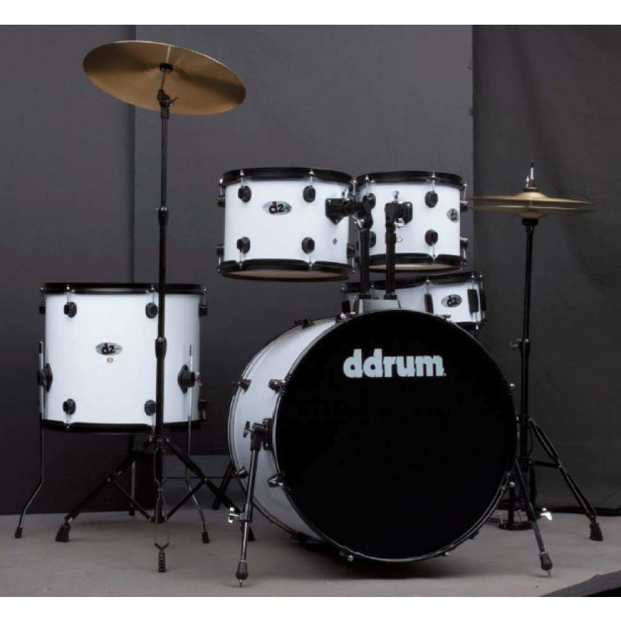 DDrum D2 B PW Pearl White - BATTERIA ACUSTICA KIT COMPLETO