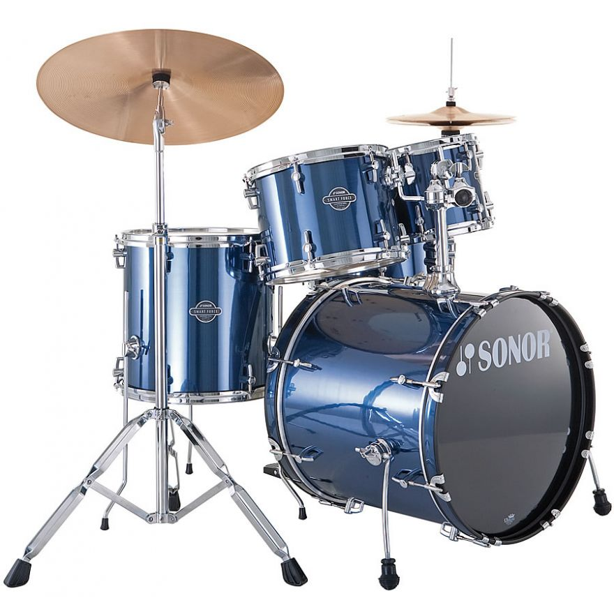 SONOR SMF11 STAGE1 Brushed Blue + PIATTI + SGABELLO