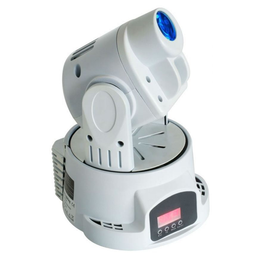 TRONIOS MINI LED MOVING HEAD SPOT White HOUSING - TESTA MOBILE