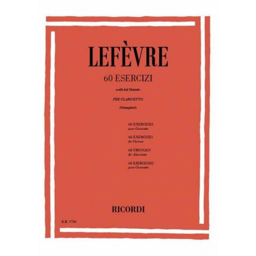RICORDI Lefèvre, Jean Xavier - 60 ESERCIZI (SCELTI DAL METODO)