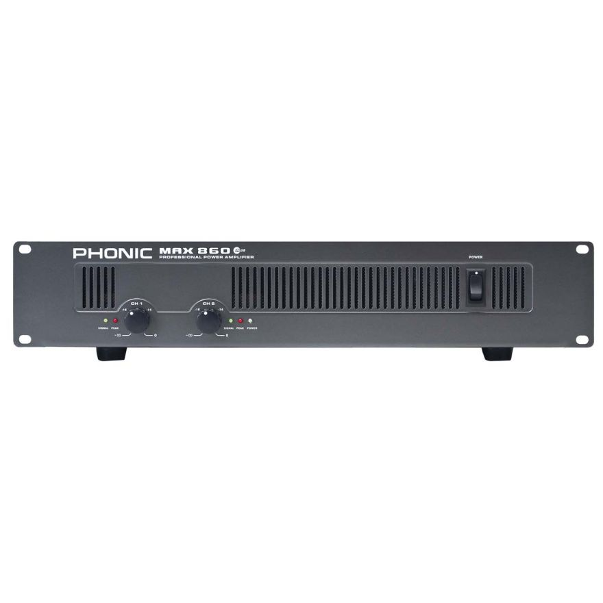 PHONIC MAX860 PLUS - AMPLIFICATORE DI POTENZA