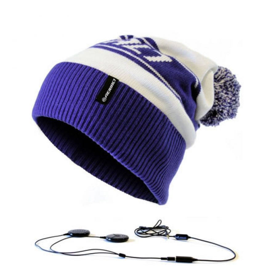 AERIAL 7 SOUND DISK BEANIE MARYHOFEN WHITE BLUE
